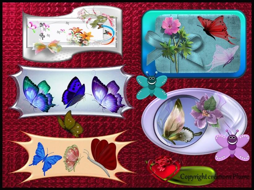 Mosaique de papillons