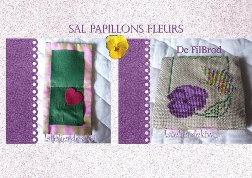 Sal papillons fleurs Finition