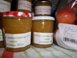 Paniers gourmands de Noël 2012: Confiture de poires, pommes et vanille
