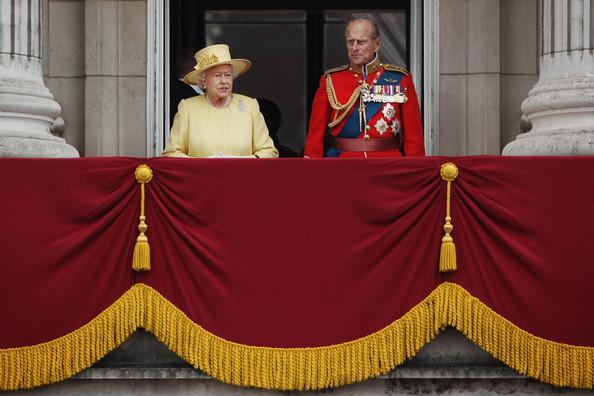 Elizabeth et Philip à Trooping the Colour