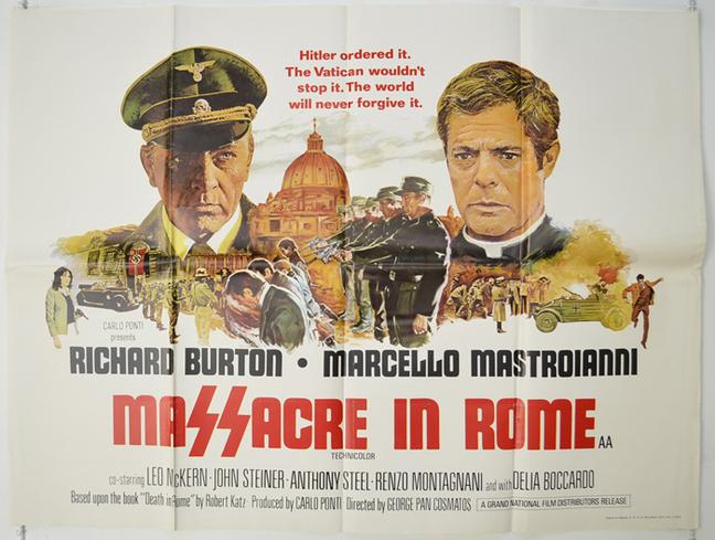 MASSACRE IN ROME BOX OFFICE USA 1973