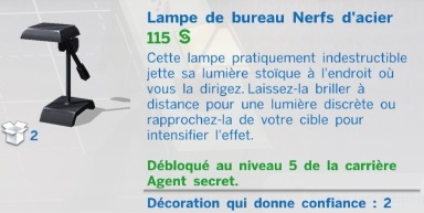 lampe de bureau nerfs d'acier