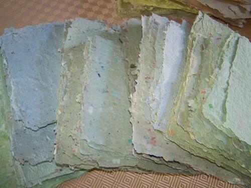 Diversité des effets pour mon papier recyclé