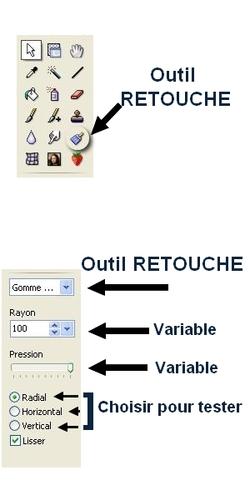 L'Outil RETOUCHE