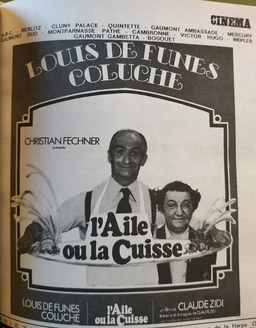 L' AILE OU LA CUISSE - LOUIS DE FUNES BOX OFFICE 1976