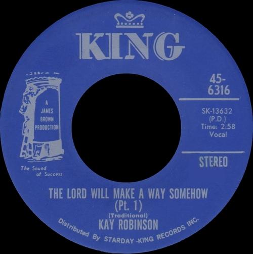 Kay Robinson : Single SP King Records 45-6316 [ US ]