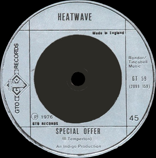 "Heatwave ‎: Album "" Too Hot To Handle "" GTO Records GTLP 013 [ UK ]"