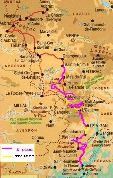 Le chemin de Saint Guilhem - Octobre 2012