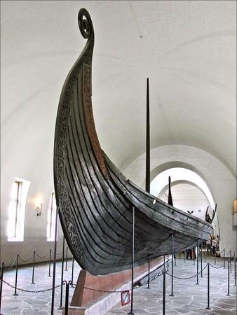Les vestiges d'un bateau viking