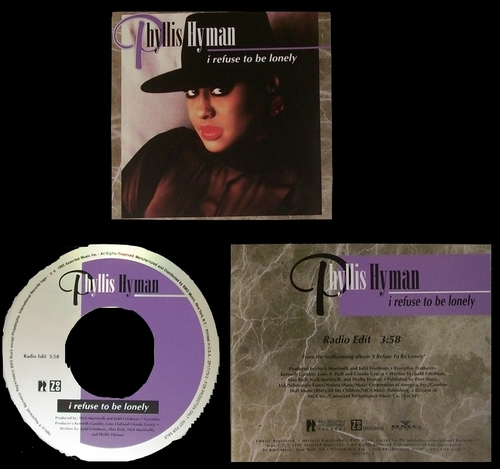 "1995 : Phyllis Hyman : CD "" I Refuse To Be Lonely "" Philadelphia International / Zoo Entertainment Records 72445-11040-2 [ US ]"