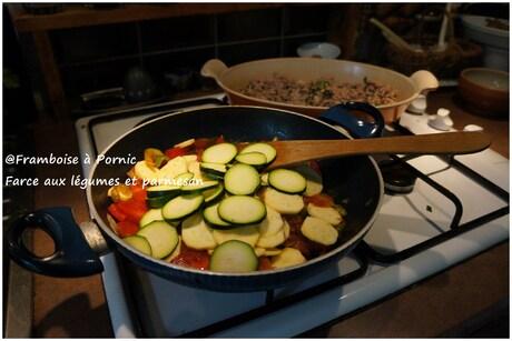 Farce aux légumes et parmesan