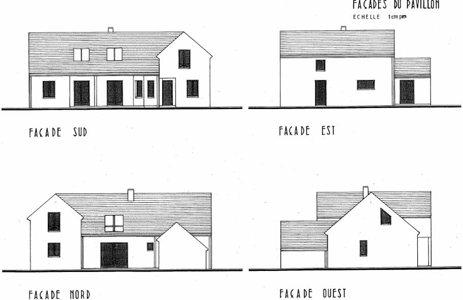 plan maison facade