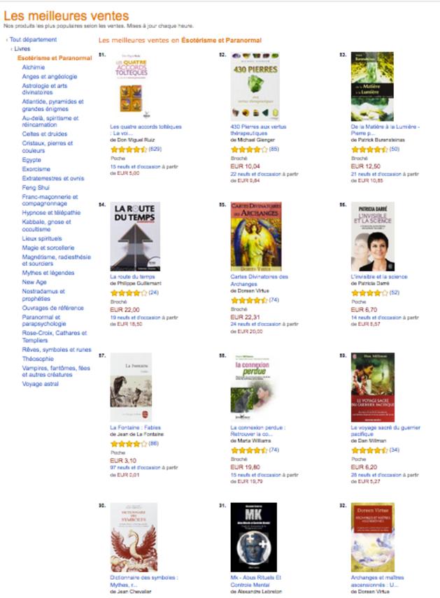 """➤ Le livre MK dans les best-sellers en section """"ésotérisme-paranormal"""" sur Amazon !"""