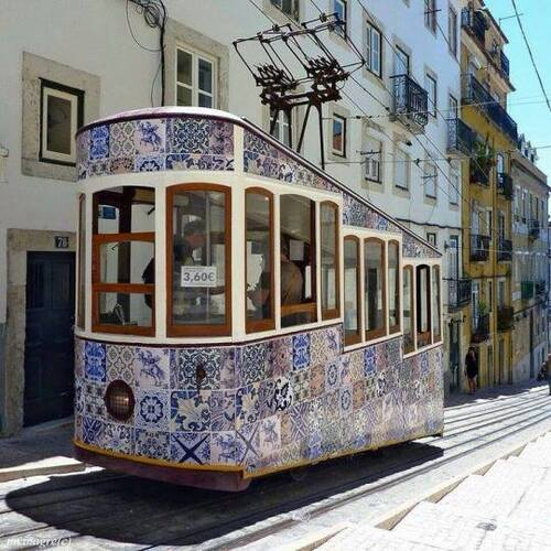 A tramway in Portugal