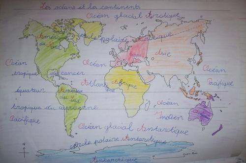 Océans et continents