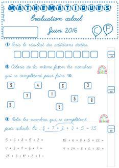Évaluation mathématiques juin 2016
