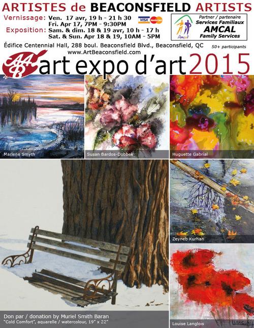 exposition avec les artistes BAA à Beaconsfield