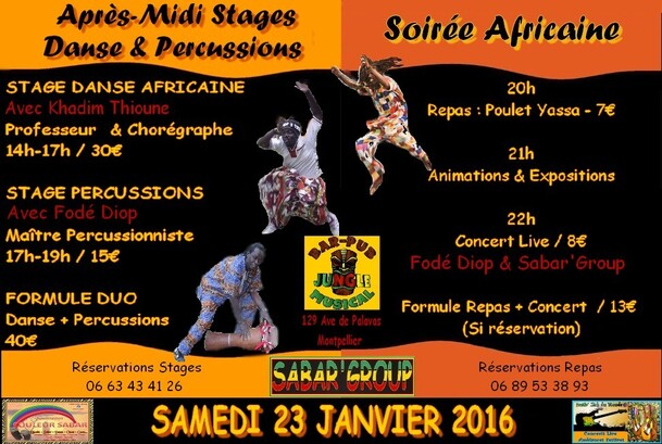Stages Percussions & Danse