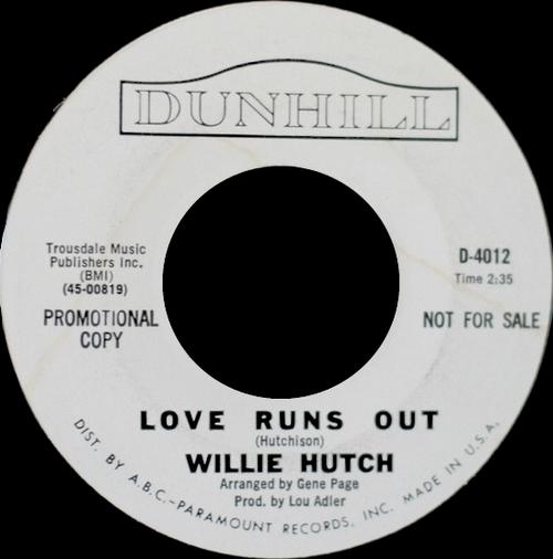"Willie Hutch : Album "" Soul Portrait "" RCA Victor Records LSP-4213 [ US ]"
