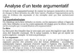L'étude et l'analyse d'un texte