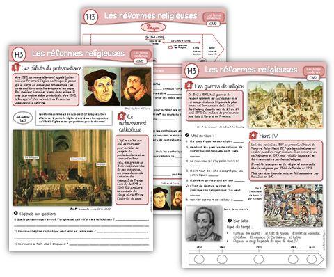 MAJ : Histoire CM2, les réformes religieuses