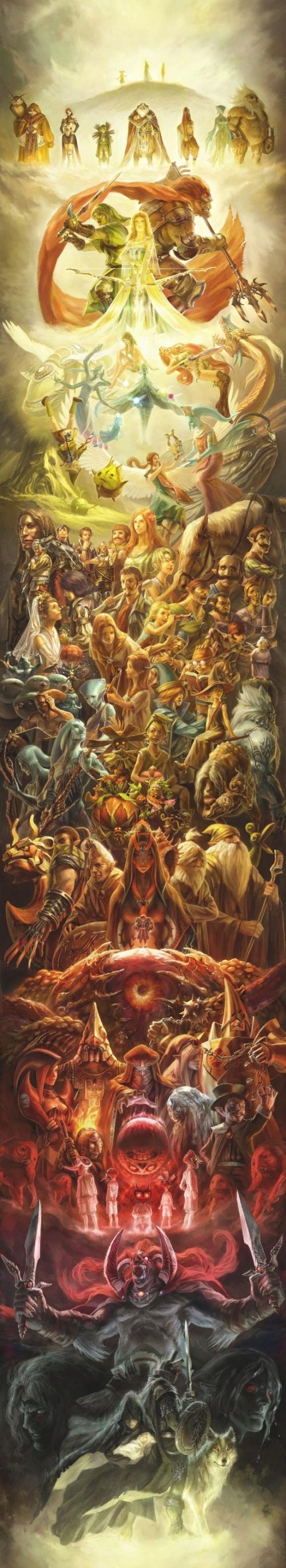 Une Illustration géante pour les 25 ans de Zelda !