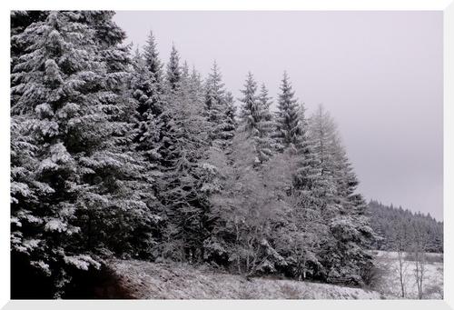 Auvergne. L'hiver n'est par terminé.