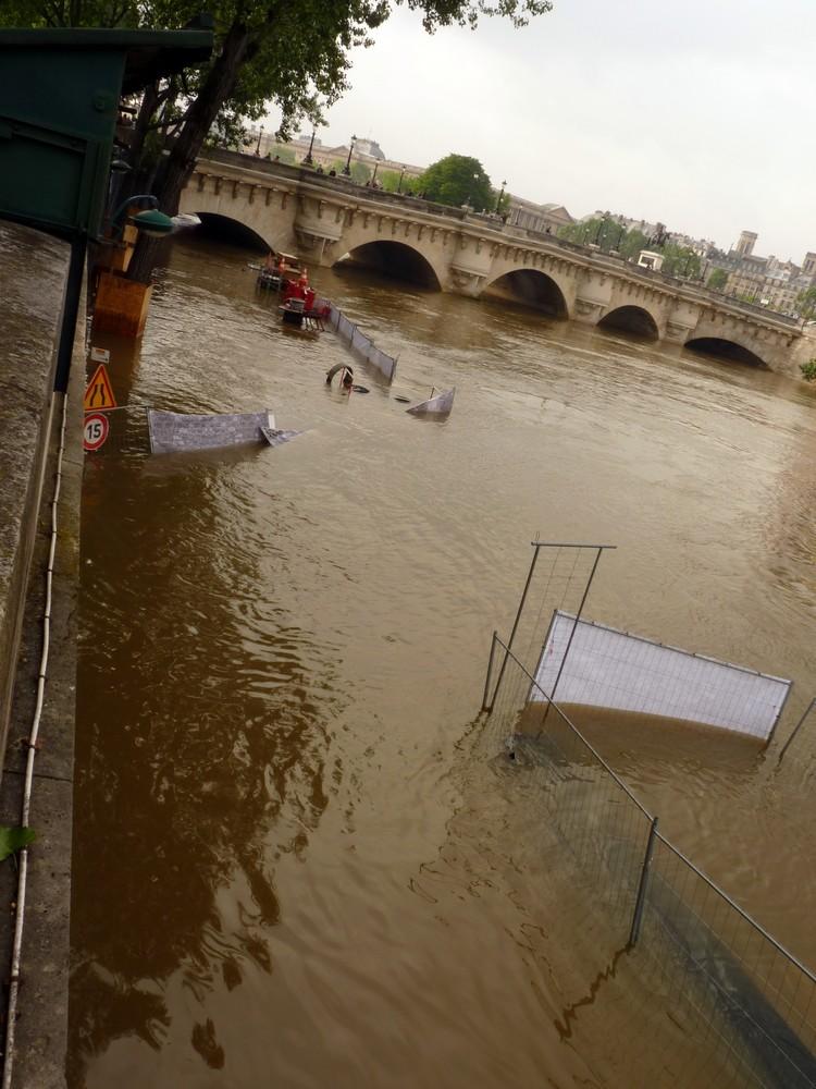 Chantier inondé