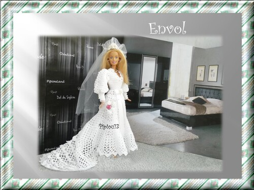 Envol. Nouvelle robe de mariée pour Barbie