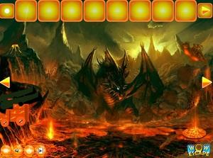 Jouer à Wow Escape from fire dragon landscape