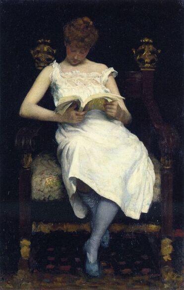 02 - Les jeunes filles à la lecture - peinture suite