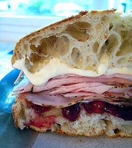 Cape Cod Turkey and cranberries sandwich
