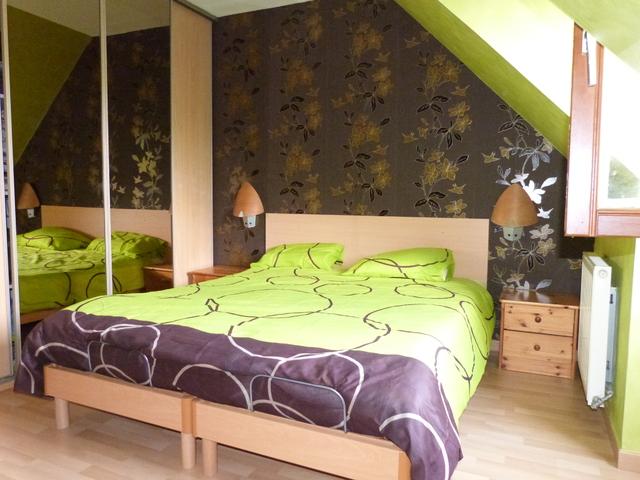 Chambre verte et marron - Charlottopoire