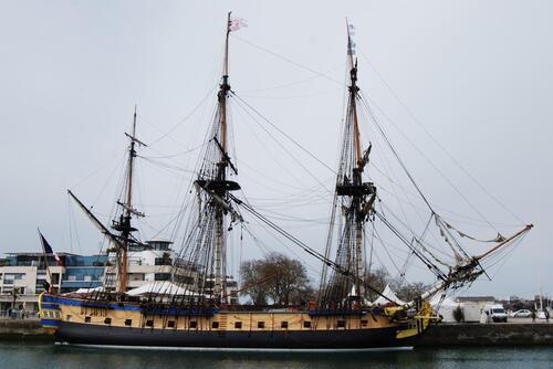 L'Hermione : un bateau historique.
