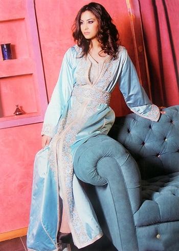 Takchita-2015-bleu-turquoise couleur tendance pour vos soiree marocaine a petit prix TAK-S887