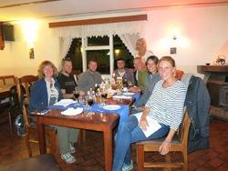 DE G à D : Petra, Anders, Laurent, Andy, Sissi, Günter, Lise, Sabine