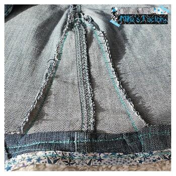 Pantalon recyclé en jupe
