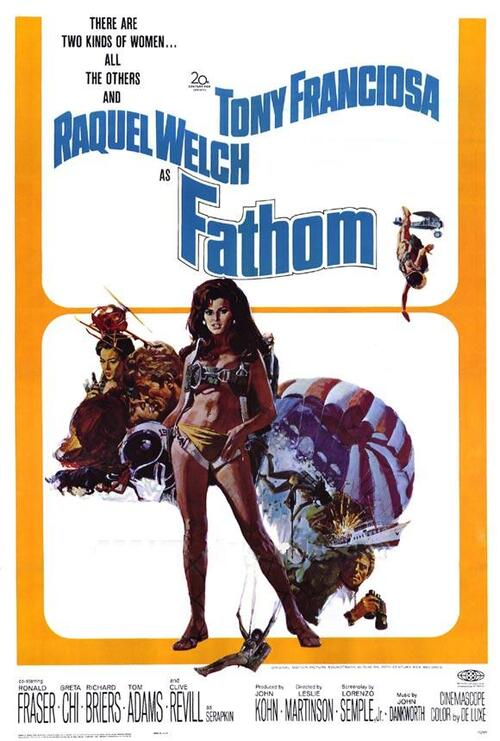 UNE SUPER GIRL NOMMEE FATHOM - BOX OFFICE RAQUEL WELCH 1967