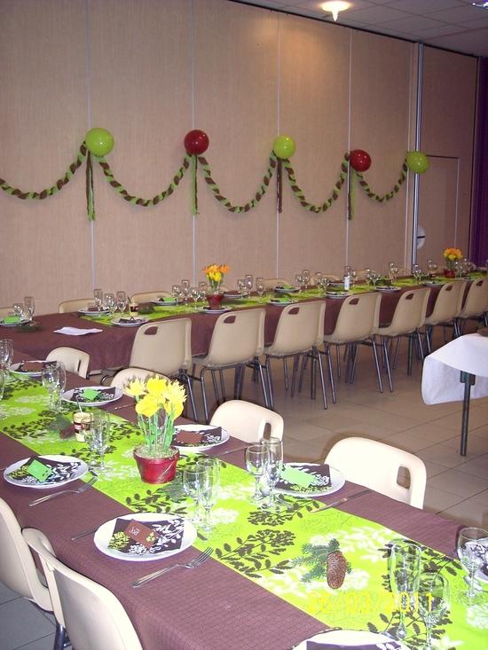 D co de salle pour un anniversaire d co cr ative - Combien mesure une table de salle des fetes ...