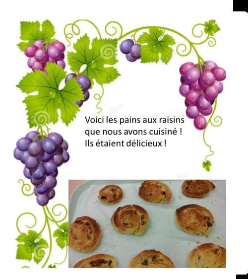 Les pains aux raisins d'Ernest