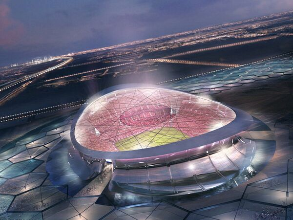 Le Lusail Iconic Stadium est le stade qui accueillera la cérémonie d'ouverture ainsi que la finale de la Coupe du monde 2022 au Qatar. Sa construction coûtera à elle seule 38 milliards de dollars (environ 34 milliards d'euros au cours actuel). © Supreme Committee for Delivery & Legacy Technical Delivery Office, Fifa
