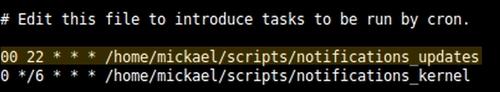Script de notifications de mises à jour CentOS