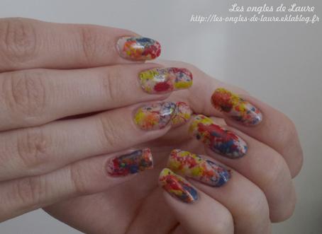 Nail Art élaboussures