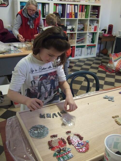 Fresque à Bouvignies - Premier atelier