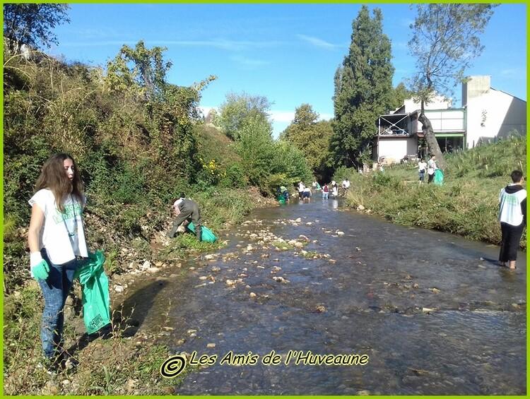 Le nettoyage de l'Huveaune du 23 septembre 2016