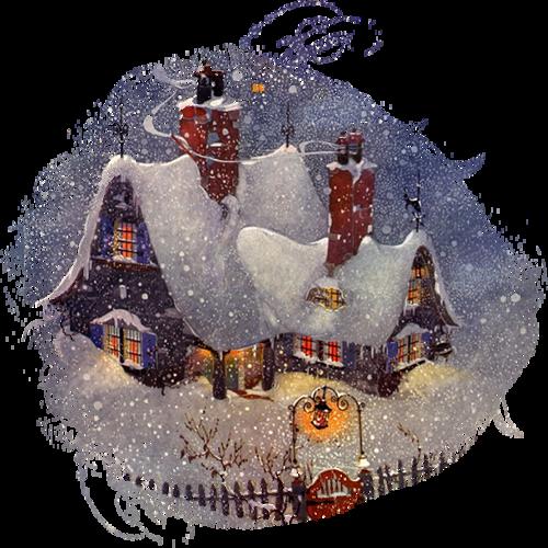 Paysage de Noël ,Hiver / 4