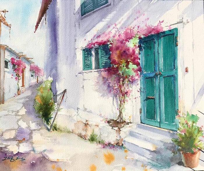 Les aquarelles du printemps en Californie de Jungsook Hyun