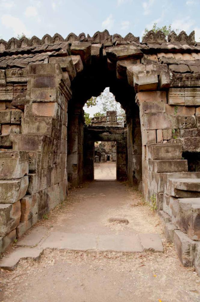 Banteay Prei Nokor : Les portes en perspective