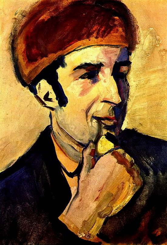 Franz Marc, Portrait de August Macke, 1910