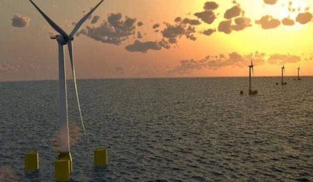 250 mégawatts au large de la Bretagne sud. C'est le projet conduit par le gouvernement pour développer les éoliennes flottantes, au large.